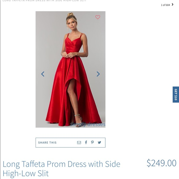 Alyce Paris Dresses | Red Prom Dress